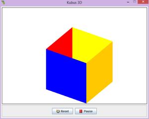 Membuat Simulasi Kubus 3 D sederhana Menggunakan GREENFOOT